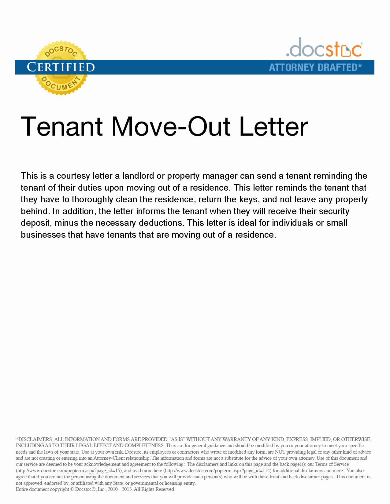 Letter for Tenant to Move Out Fresh Best S Of Move Out Notice to Tenant Template 30 Day