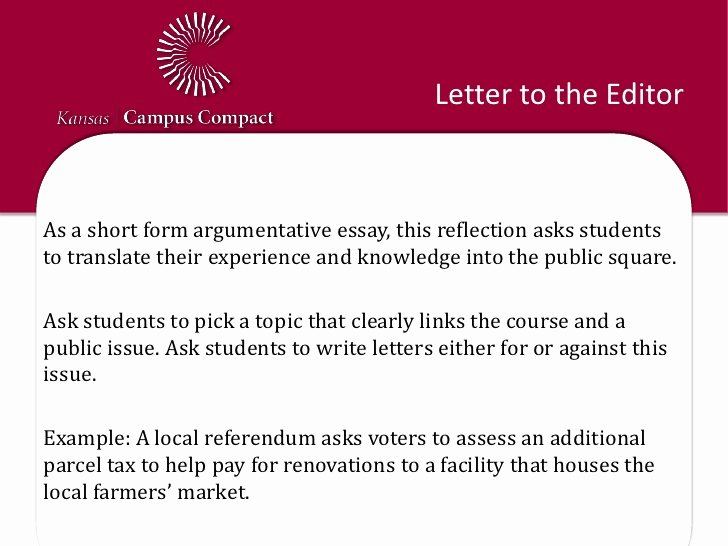 Letter From the Editor Example for Students Lovely Reflection Activity Examples