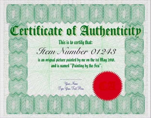Letter Of Authenticity Samples Fresh Certificate Authenticity Templates Word Excel Samples