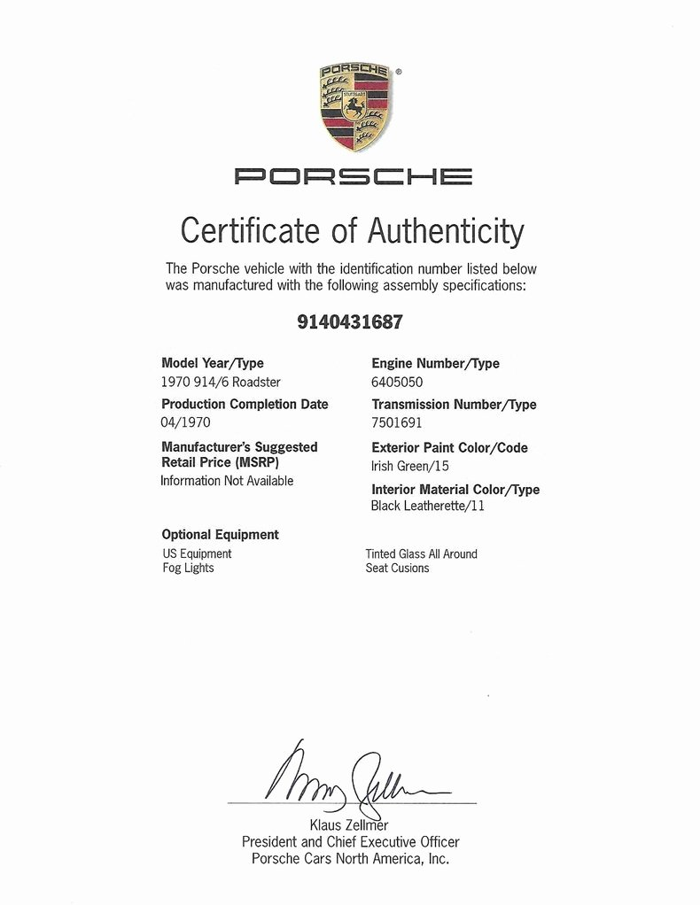 Letter Of Authenticity Samples Lovely Vin Decoding for Your Audi Bmw Mercedes Benz Porsche