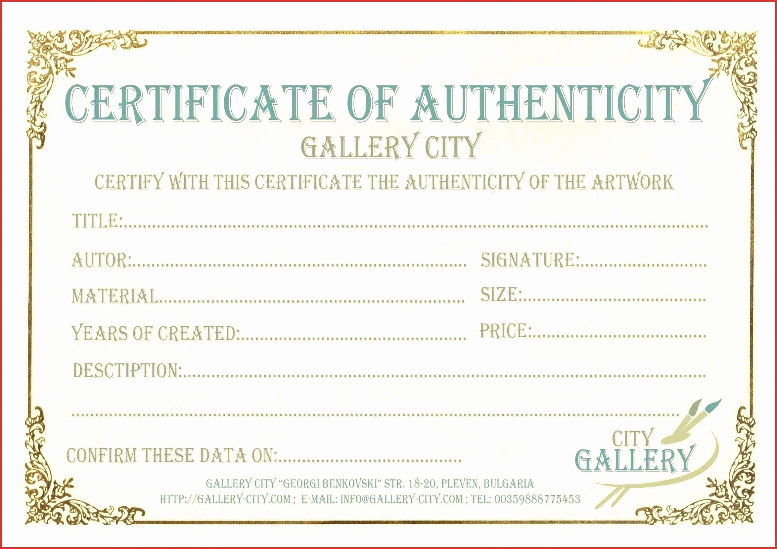 Letter Of Authenticity Samples Unique 10 Letter Authenticity Template Ideas Letter Templates