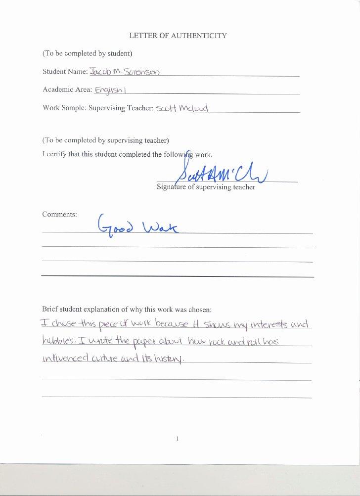 Letter Of Authenticity Samples Unique Letter Authenticity From Scott Mcloud