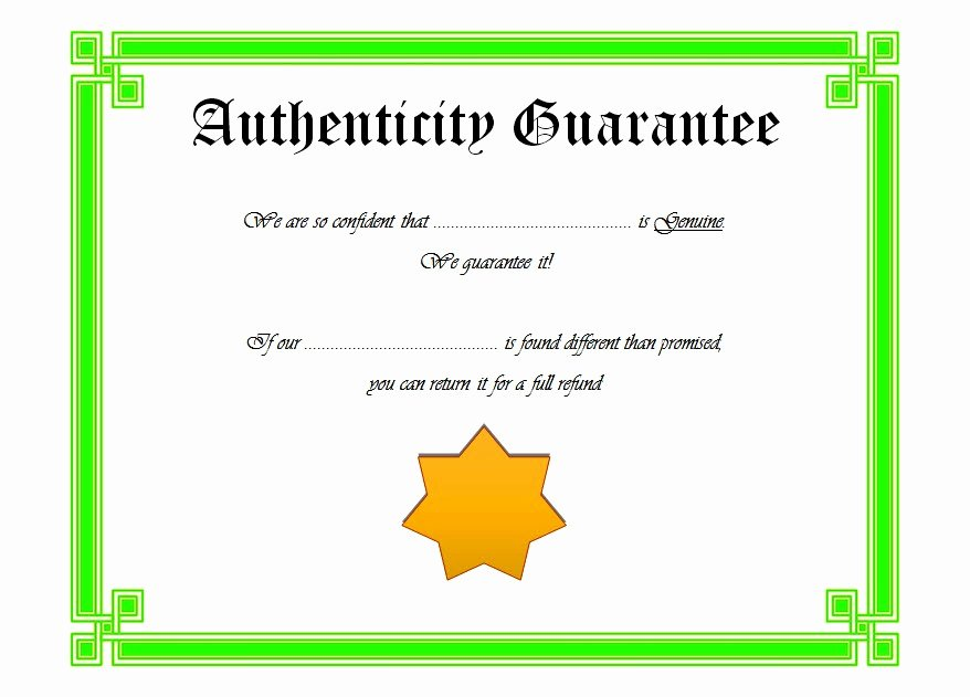Letter Of Authenticity Template Luxury Certificate Of Authenticity Templates Free [10 Limited