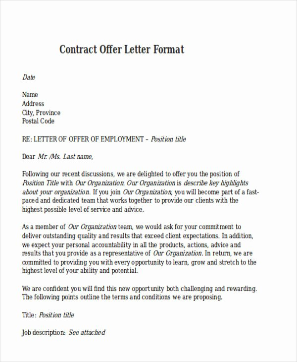 Letter Of Commitment for Employment Best Of Letter Employment Contract Employment Contract Letter
