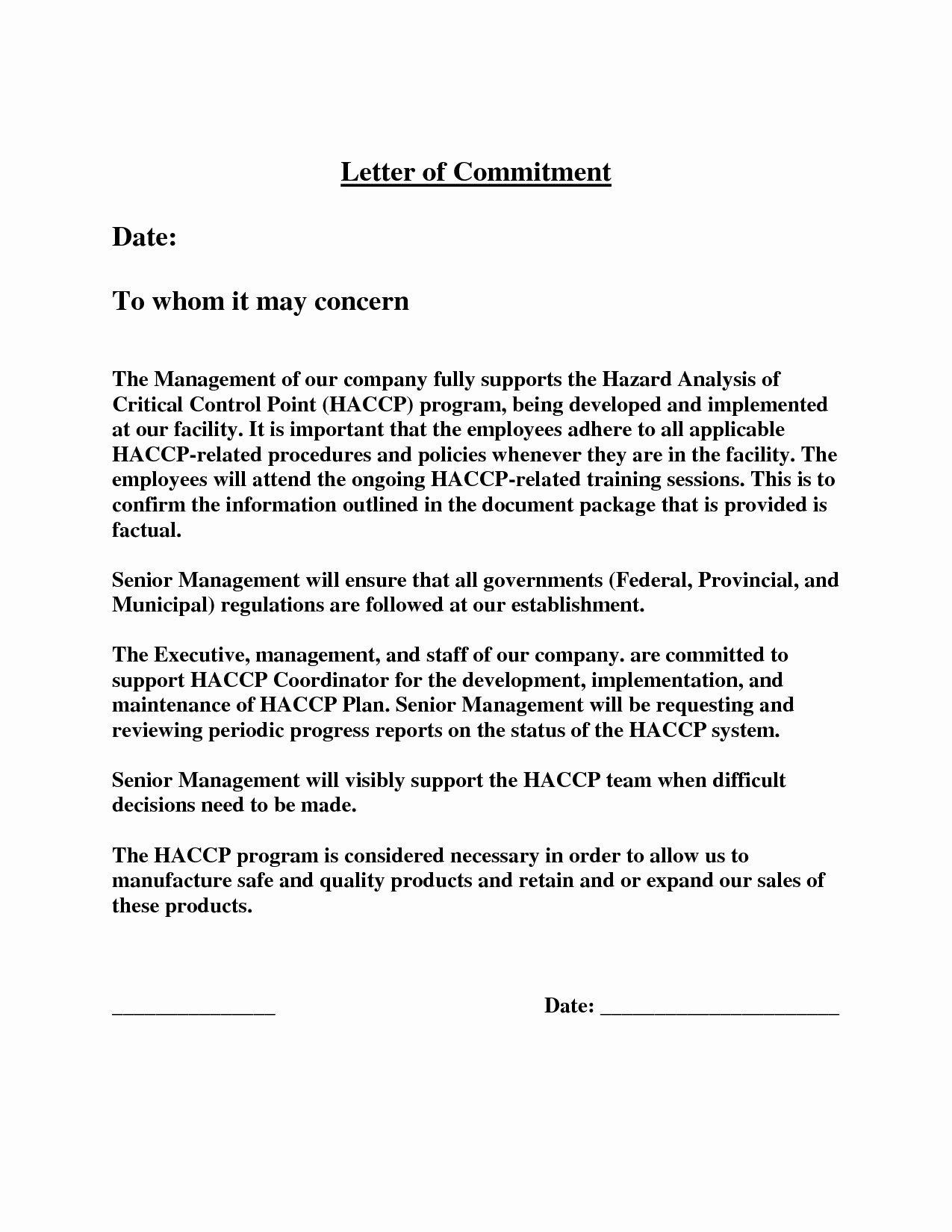 Letter Of Commitment for Employment Unique Fresh Mintment Letter Sample for You