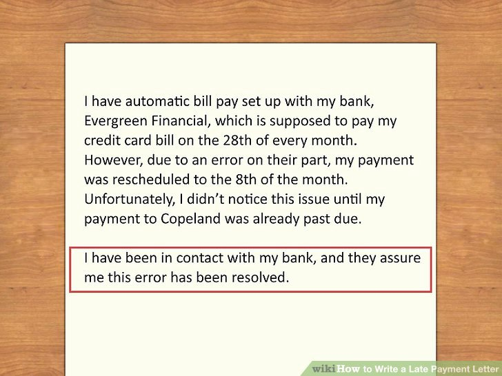 Letter Of Explanation for Late Payment Awesome How to Write A Late Payment Letter 9 Steps with