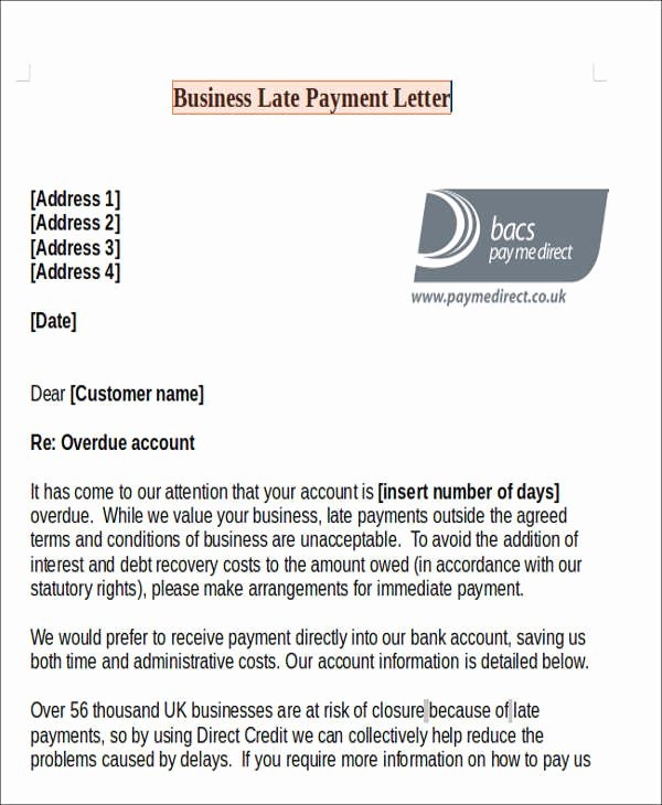 Letter Of Explanation for Late Payment Lovely 11 Late Payment Letter Templates Word Google Docs