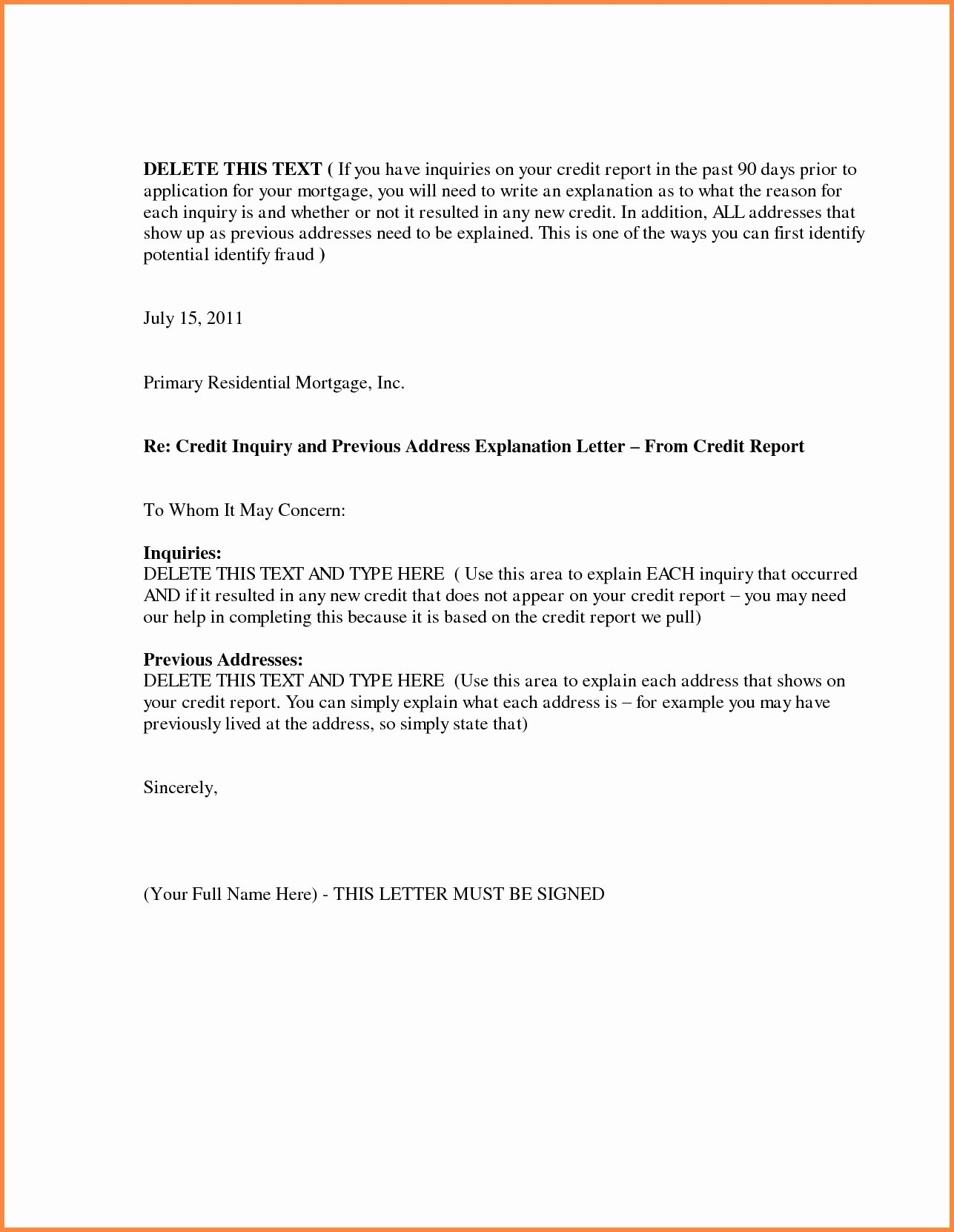 Letter Of Explanation for Late Payment Lovely 30 Explaining Late Payments to Underwriter