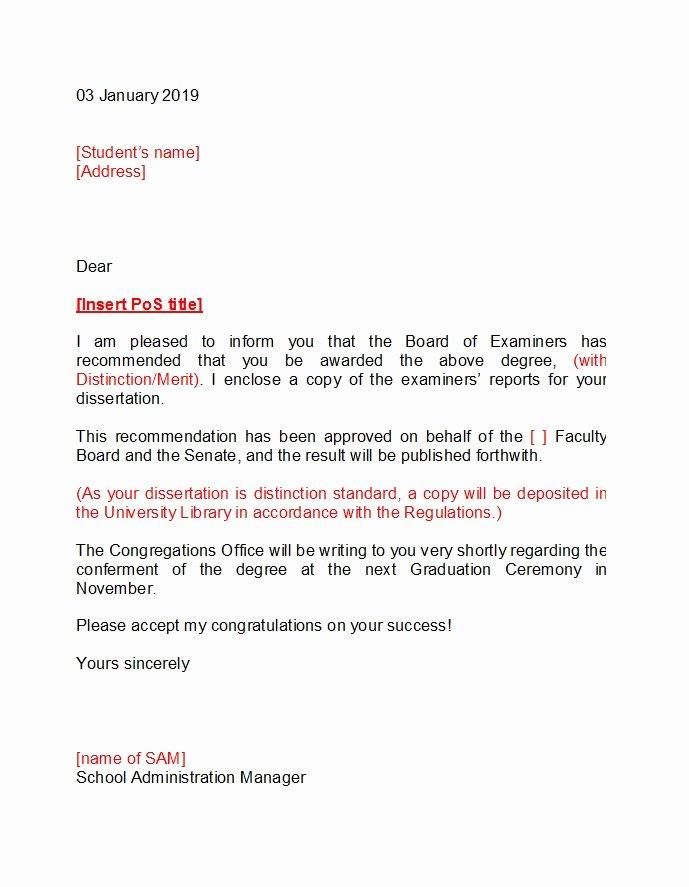 Letter Of Graduation New 49 Best Congratulation Letters New Job Graduation