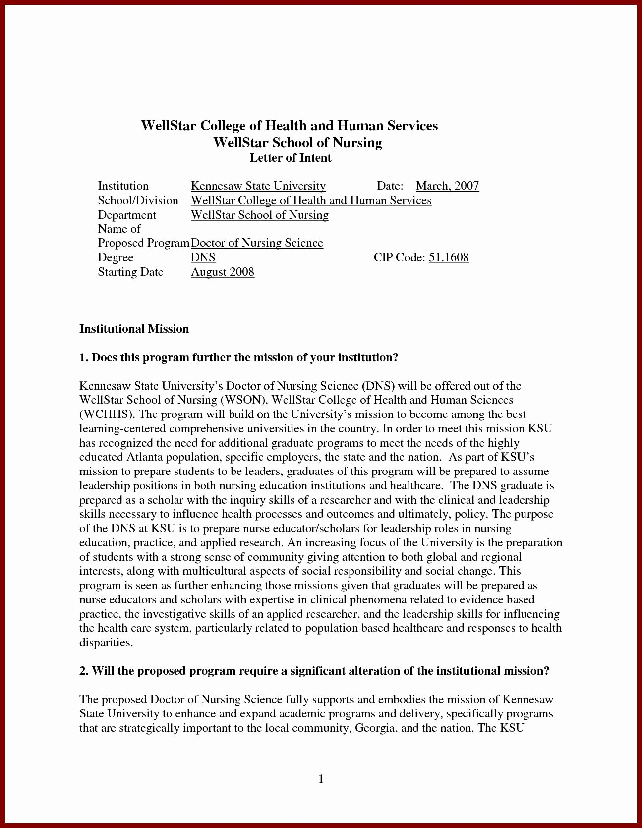 cover letter for nursing school admission 4