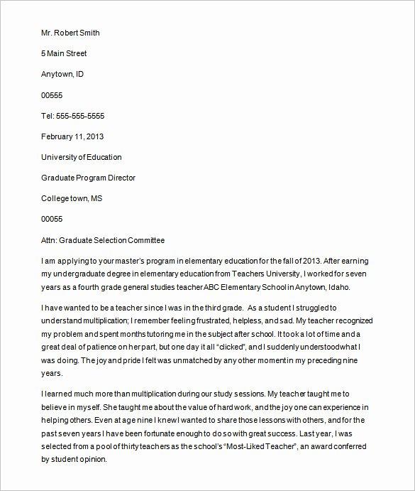 Letter Of Intent Graduate School Samples Best Of 25 Letter Templates Pdf Doc Excel