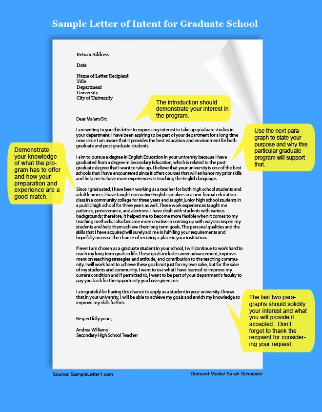 Letter Of Intent Sample for Grad School Unique How to Write A Letter Of Intent for Graduate School