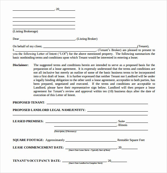 Letter Of Intent to Purchase Real Estate Template Elegant Letter Of Intent Real Estate 9 Download Free Documents