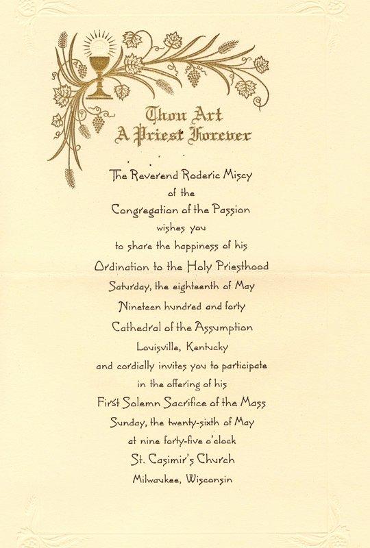 Letter Of ordination Template Beautiful Priest ordination Catholic Quotes Quotesgram