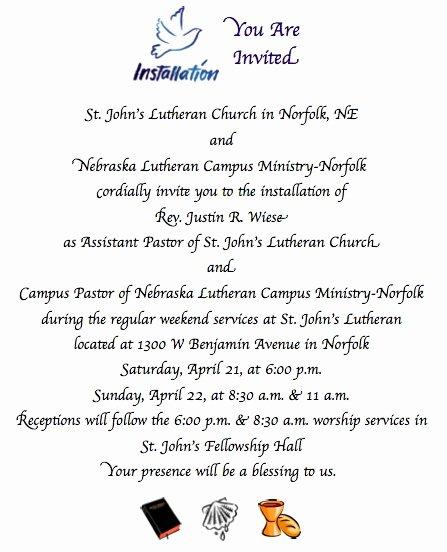 Letter Of ordination Template Fresh Best S Of Pastor ordination Invitation Letter
