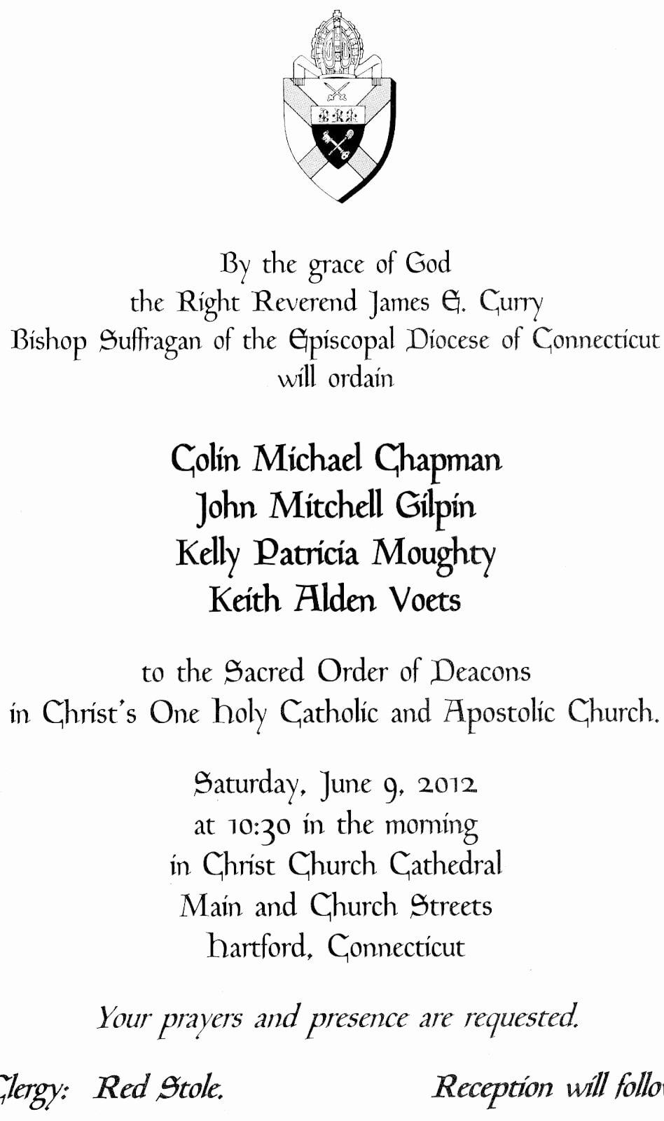 Letter Of ordination Template Luxury Catholic ordination Invitations