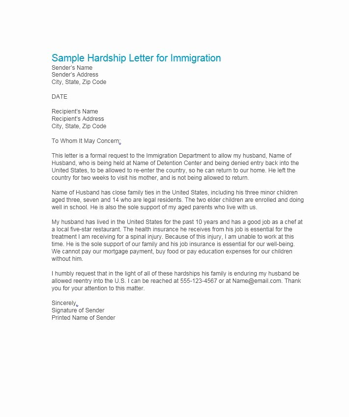 Letter Of Pardon for Immigration Best Of 35 Simple Hardship Letters Financial for Mortgage for