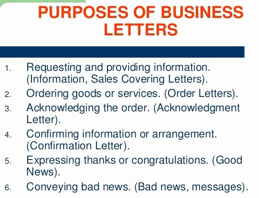 Letter Of Purpose Example Luxury Purposes Of Business Letter the Business Munication