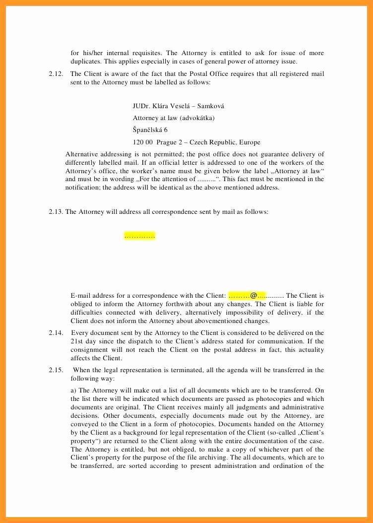 Letter Of Representation attorney Elegant 9 10 Sample Legal Representation Letter