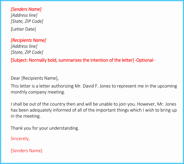 Letter Of Representation attorney Luxury Letter Of Authorization to Represent How to Write It 6