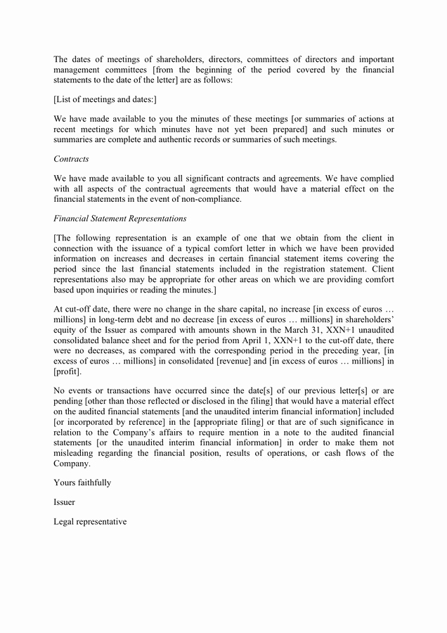 Letter Of Representation Sample Lovely Example Of A Representation Letter In Word and Pdf formats