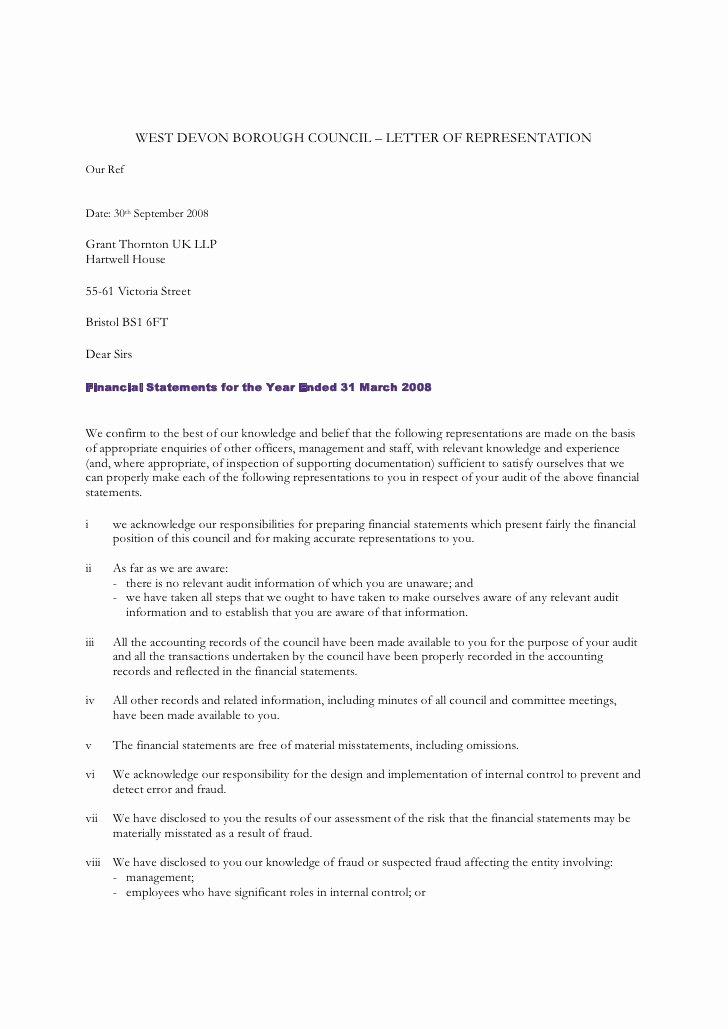 Letter Of Representation Unique West Devon Borough Council Letter Representation Our
