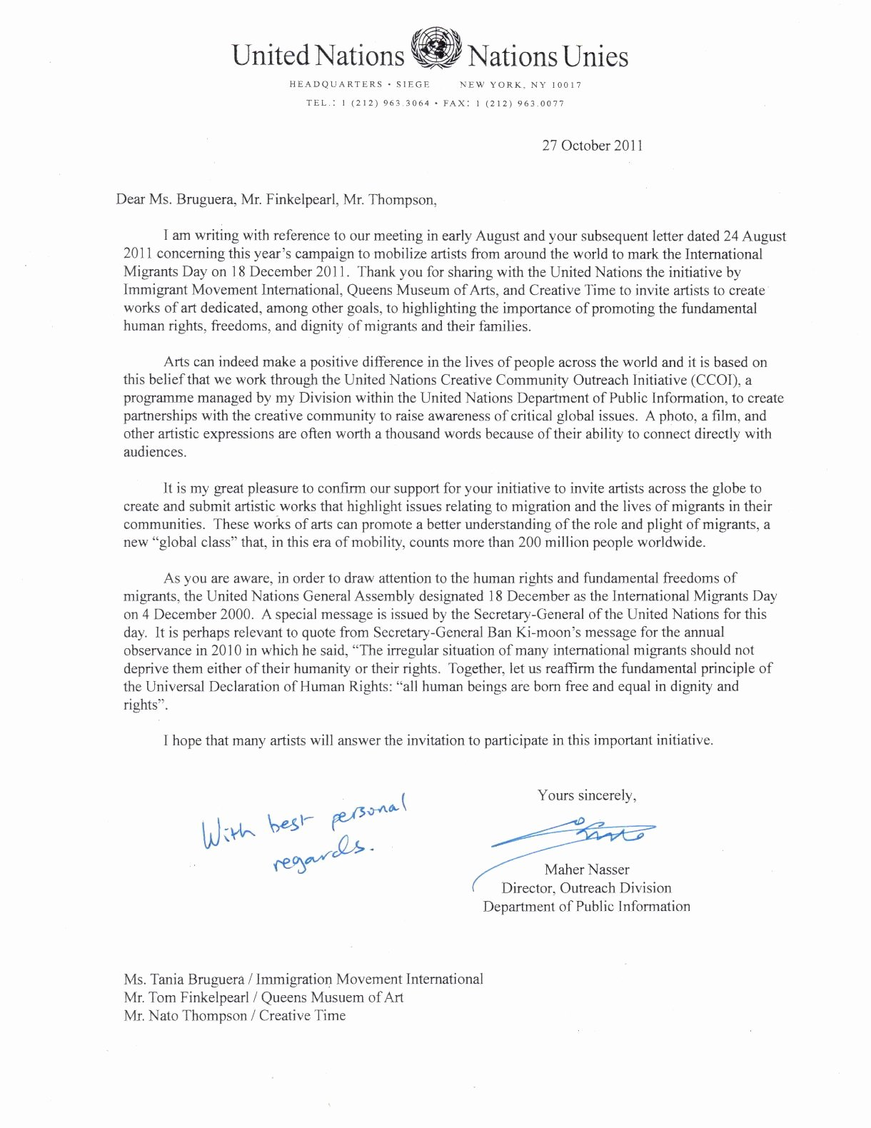 Letter Of Support for Immigration Fresh United Nations Ficial Letter Support for Dec