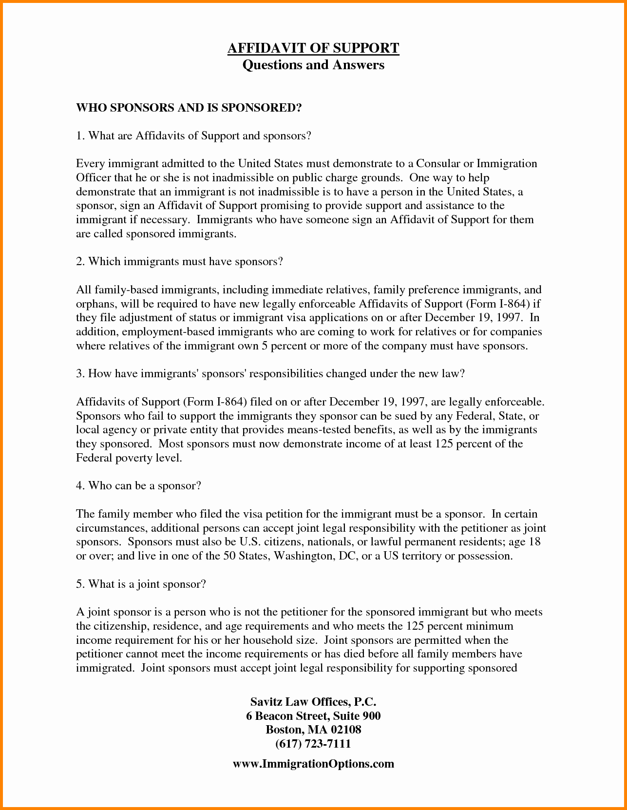 Letter Of Support for Immigration New 11 Example Of Affidavit Letter for Immigration