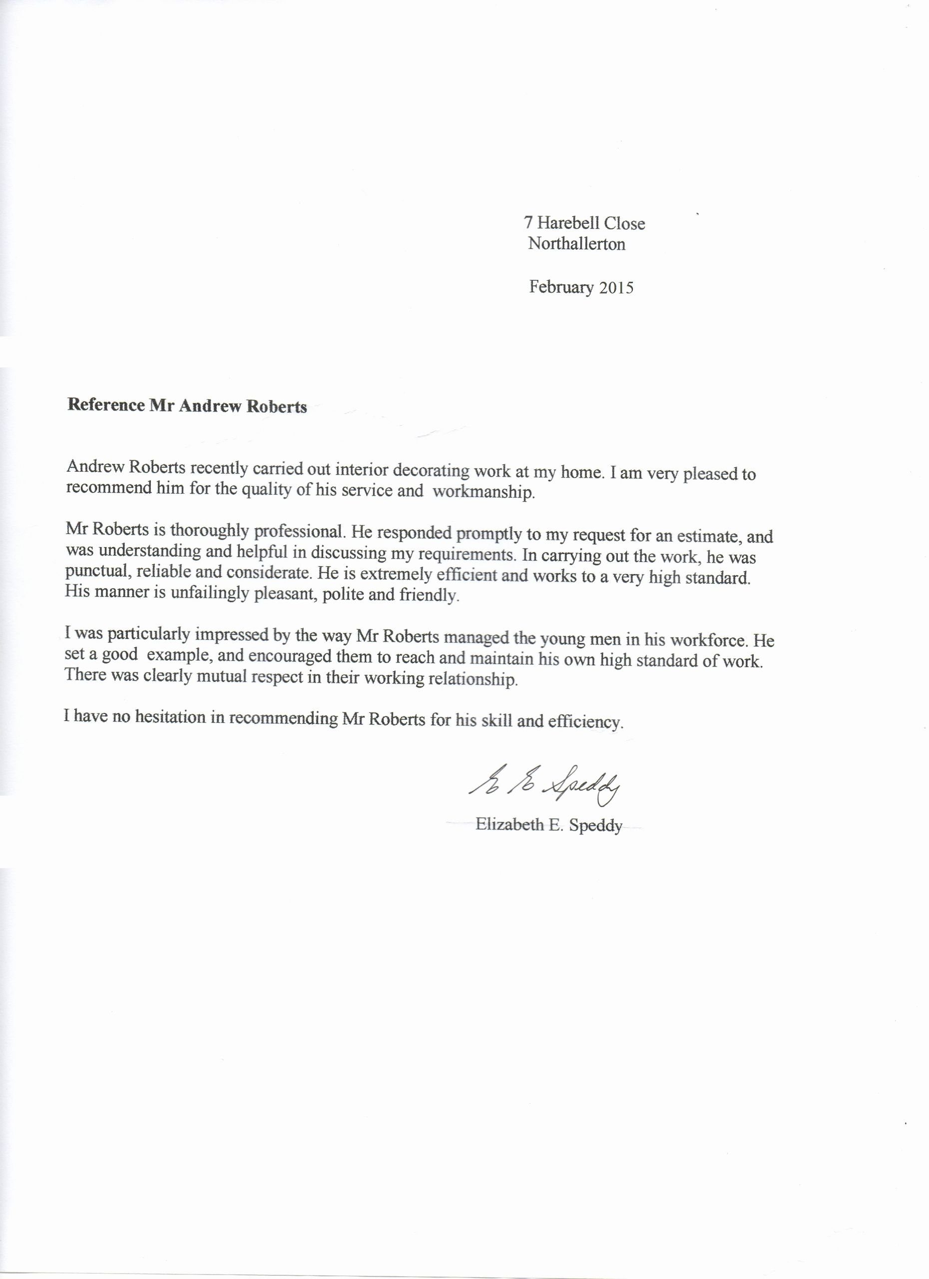 Letter Of Testimony Example Awesome Testimonials andrew Roberts