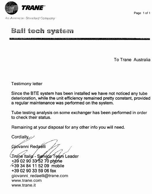 Letter Of Testimony Example Lovely Ball Tech Energy