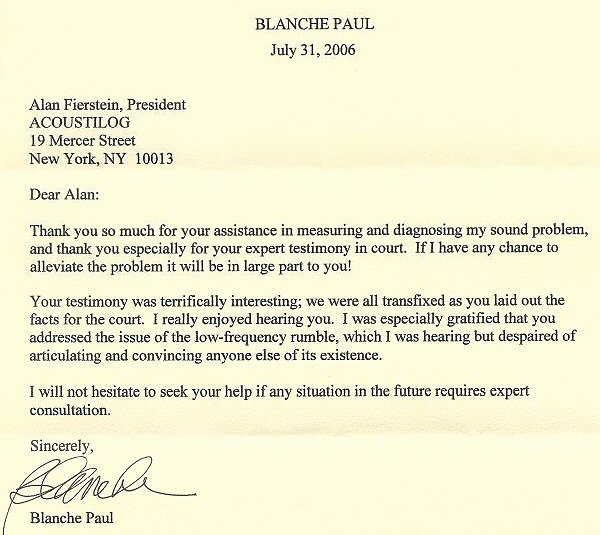 Letter Of Testimony Example Unique Acoustilog Incorporated Testimonial Letters
