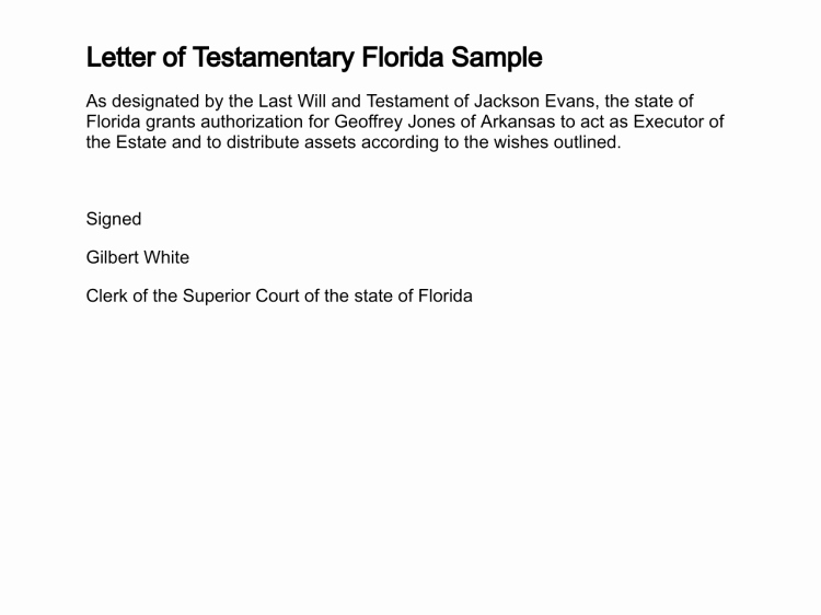 Letter Of Testimony Sample Inspirational Letter Of Testamentary