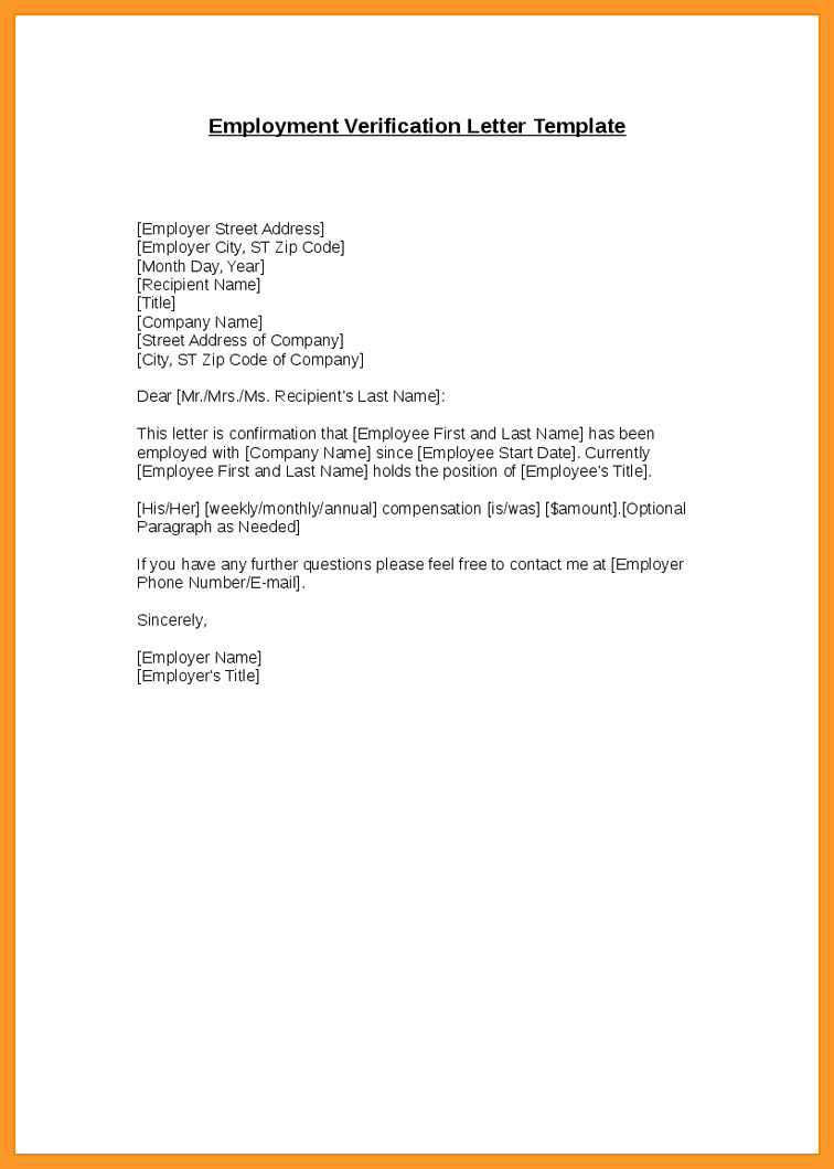 Letter Of Unemployment Sample Beautiful 9 10 Letter Unemployment Verification