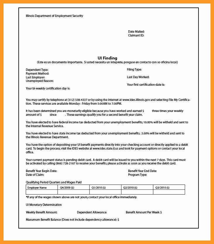 Letter Of Unemployment Template New 12 13 Unemployment Verification Letter