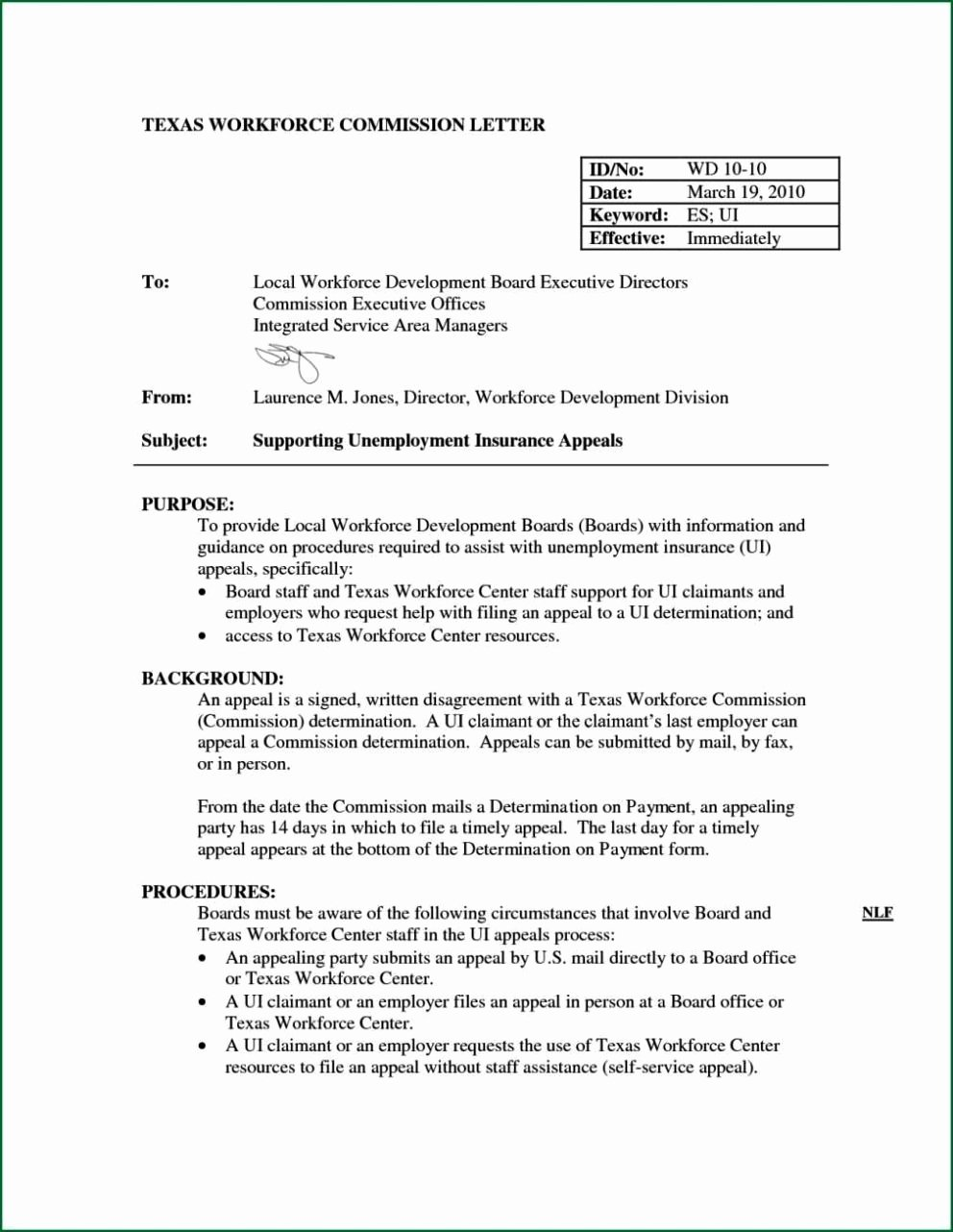 Letter Of Unemployment Template New How to Write A Appeal Letter for Unemployment