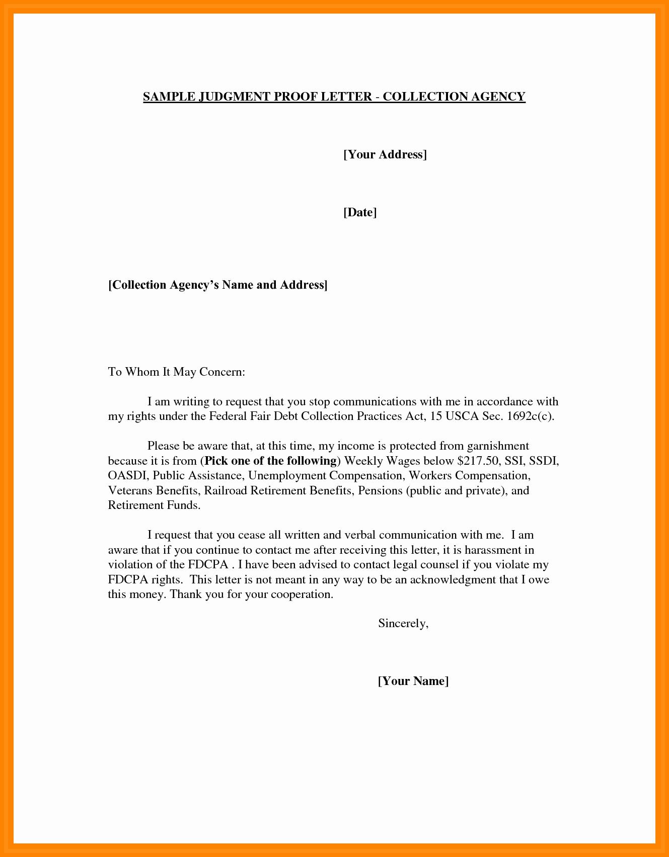 Letter Of Unemployment Template Unique 5 Address Verification Letter