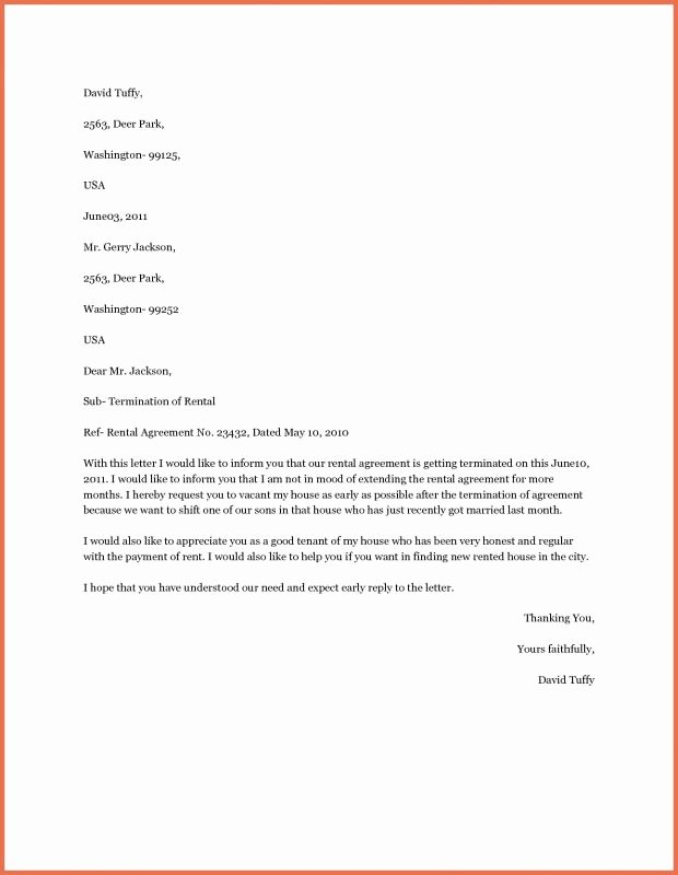 Letter to End Lease Early Best Of Early Lease Termination Letter