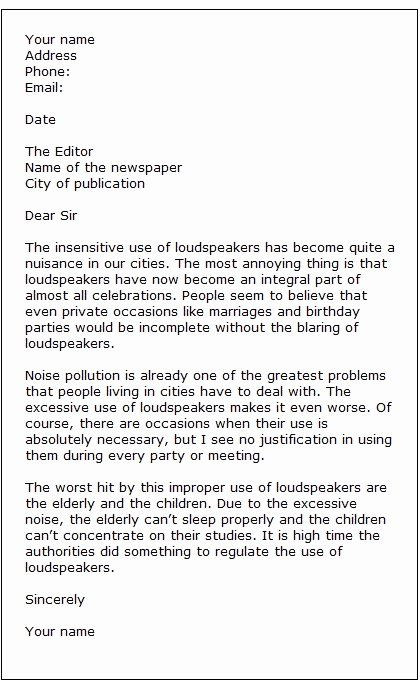 Letter to the Editor Template for Students Elegant Letter to the Editor Template