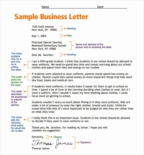 Letter to the Editor Template for Students Luxury Sample Letter format for Kids Free Samples Examples