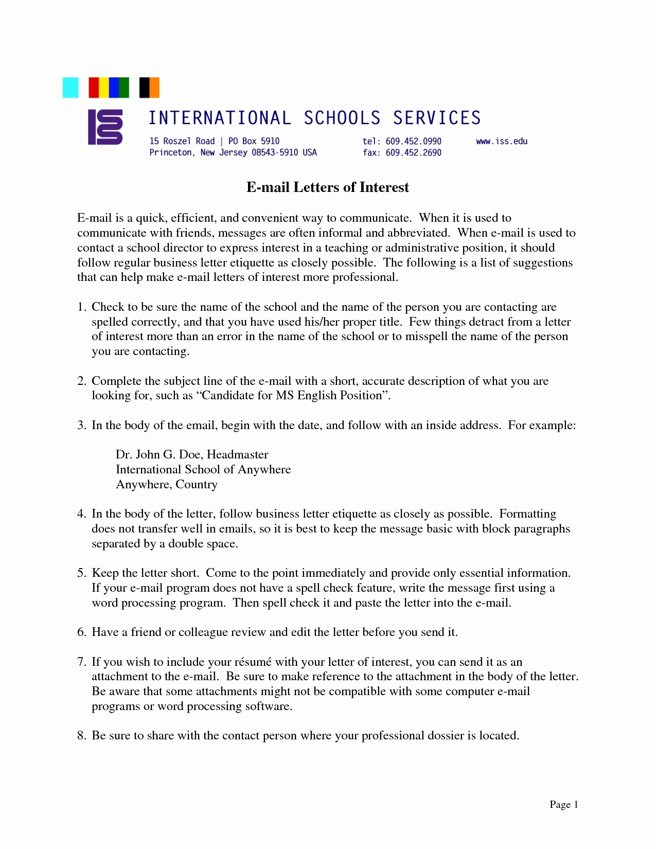 Letters Of Interest Education Fresh Best S Of for School Board Position Letter