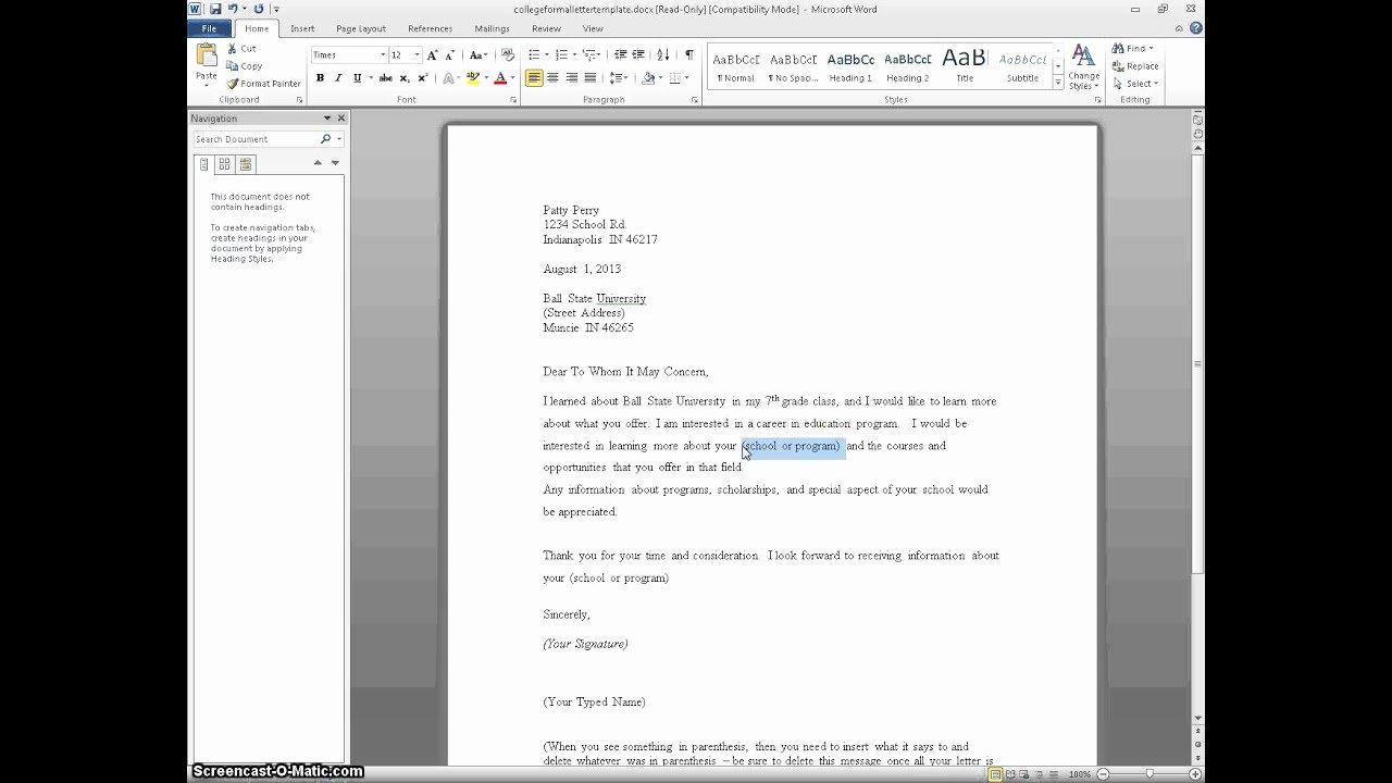 Letters Of Interest for Teaching Fresh Letter Of Interest