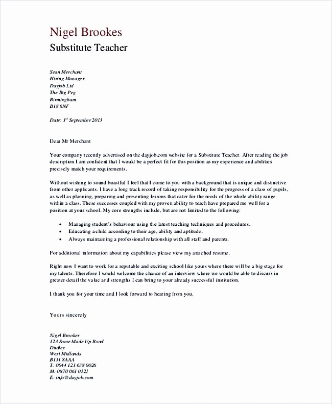 Letters Of Interest for Teaching Lovely Teaching Cover Letter Examples for Successful Job Application