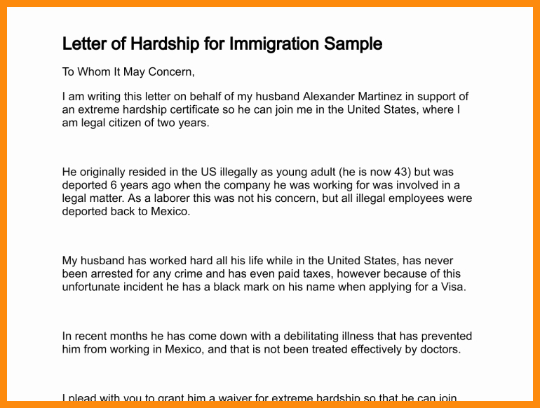 Letters Of Support for Immigration Beautiful Immigration Letter Support for A Family Member