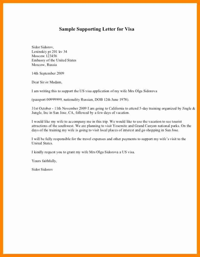 Letters Of Support for Immigration Elegant 6 Examples Of Support Letters for Immigration