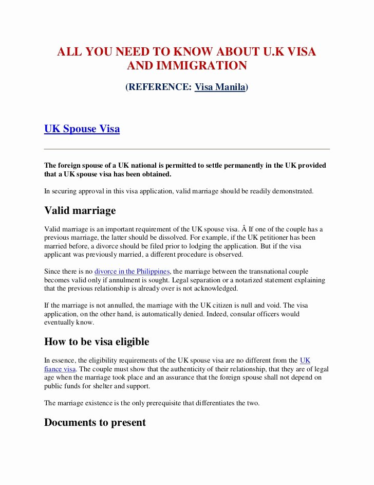 Letters Of Support for Immigration Luxury All You Need to Know About Uk Visa and Immigration