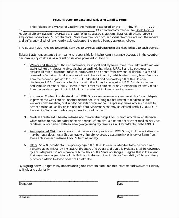 Liability Release forms Beautiful Sample Waiver Of Liability 8 Examples In Pdf Word