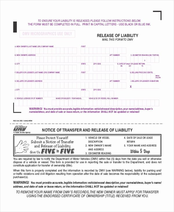 Liability Release forms Elegant Free 9 Sample Liability Release forms In Doc