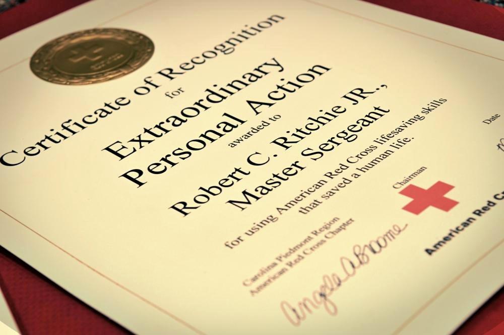 Life Saving Award Certificate Fresh Dvids News north Carolina Air Guardsman Recognized for