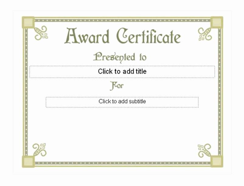 Life Saving Award Certificate New Student Award Template