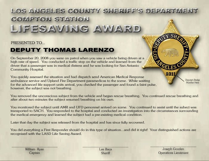 Life Saving Award Template Beautiful Custom Certificates